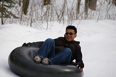 snow tube photo
